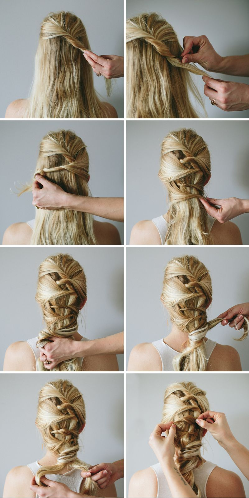 Romantic twist braid hair tutorial