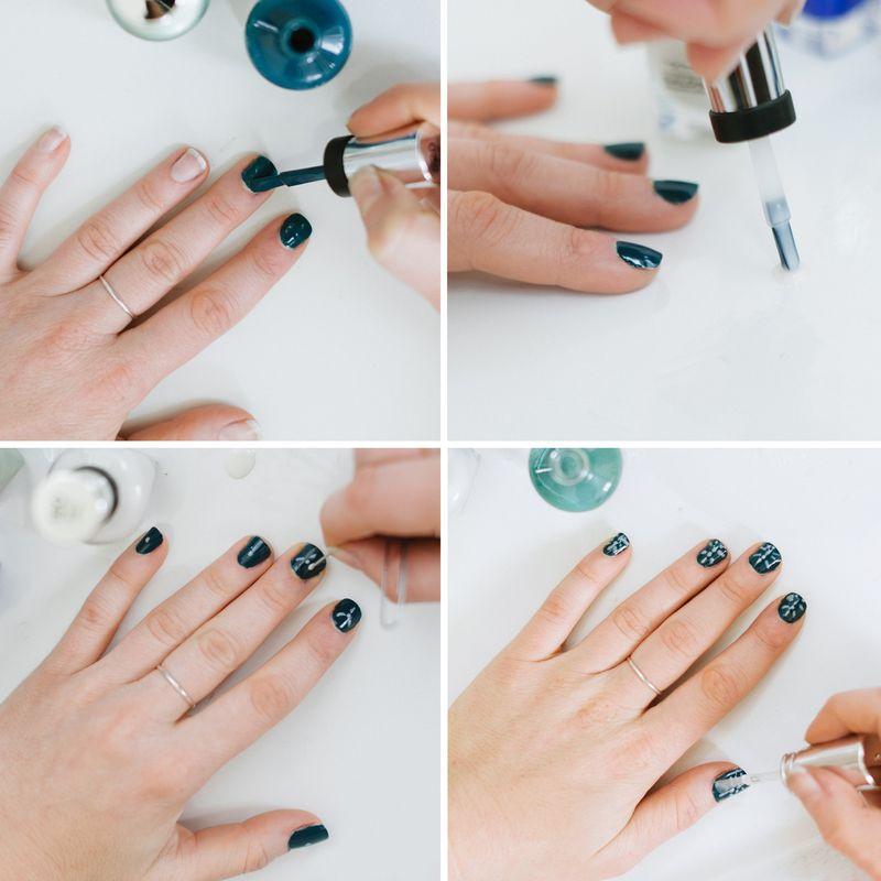 Japanese indigo nail art tutorial