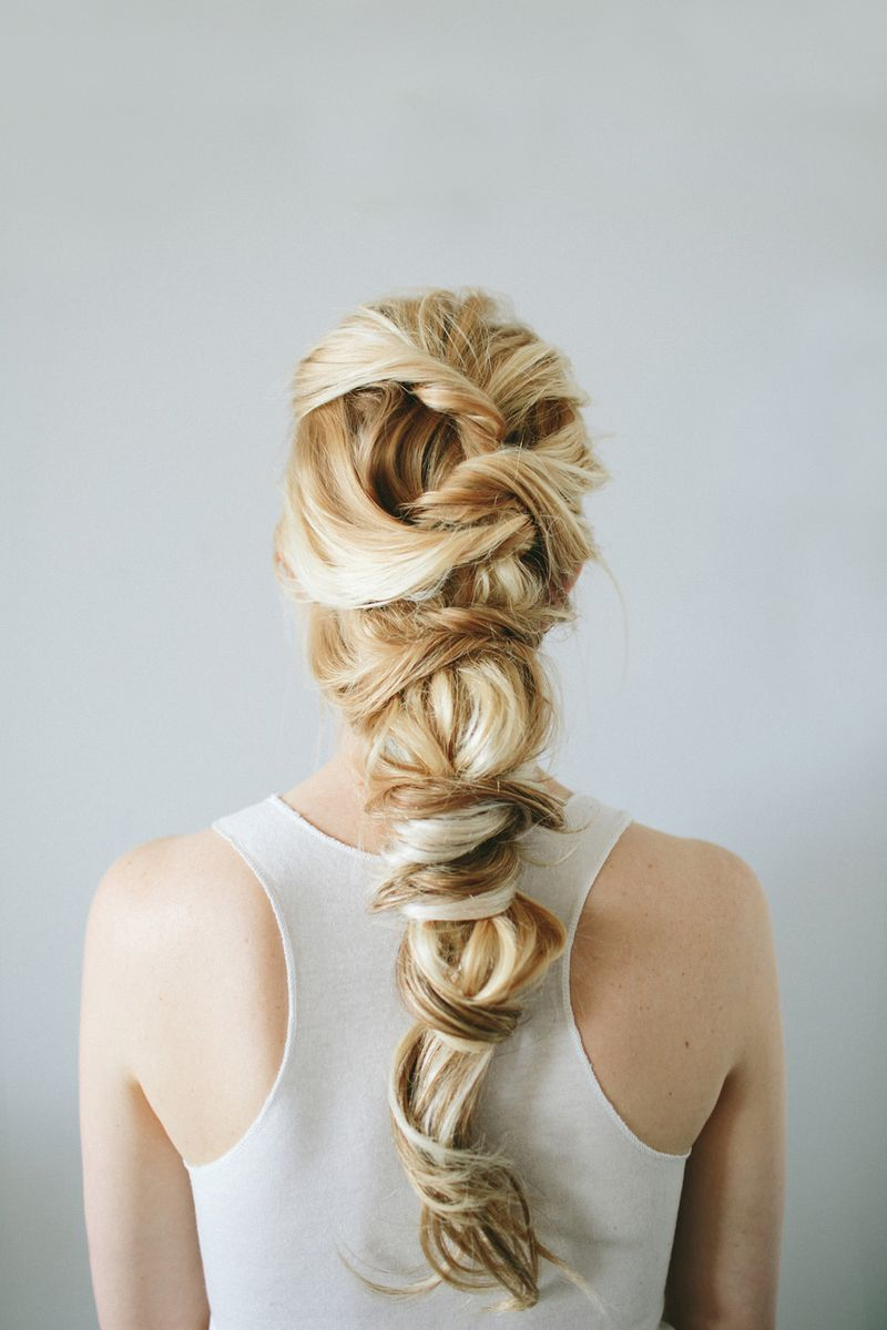 Twist braid hair tutorial