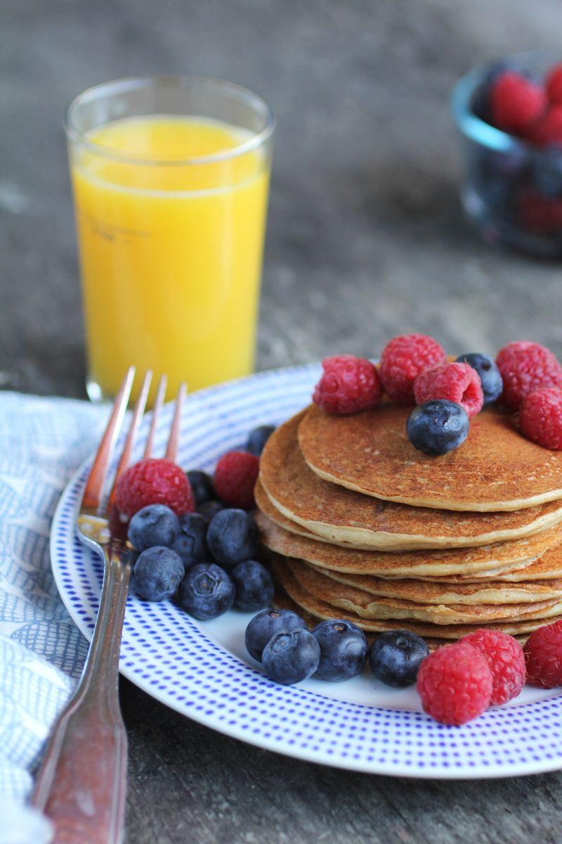 Healthy gluten-free pancakes