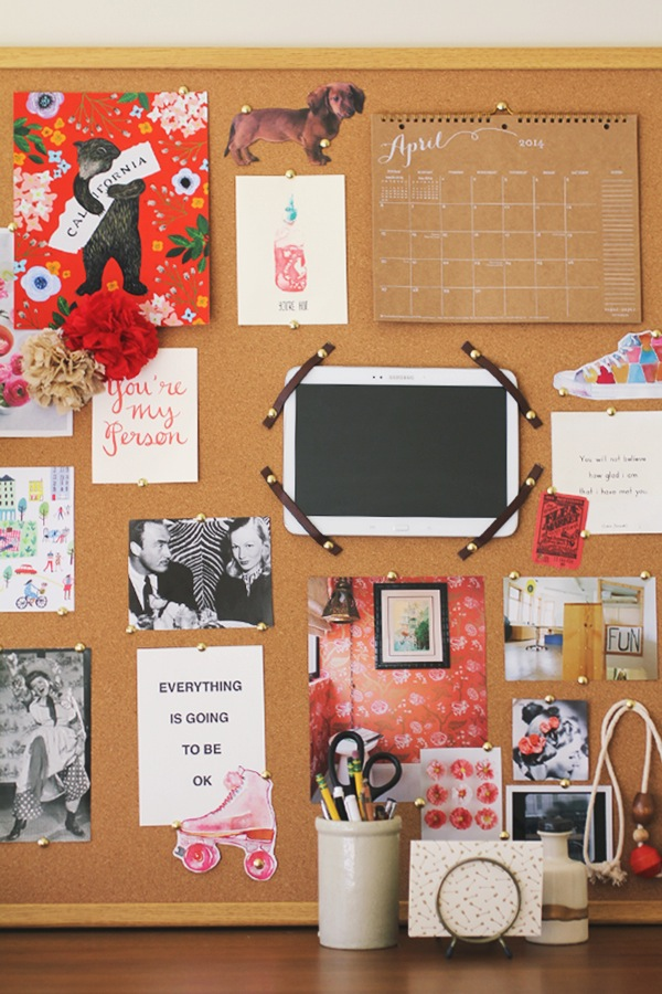 Office inspiration board anne sage for Home design vision board