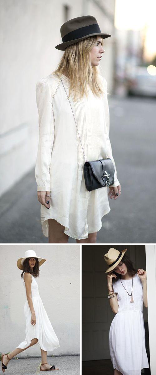 Summer style :: white dresses