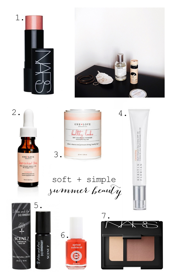Simple summer beauty routine