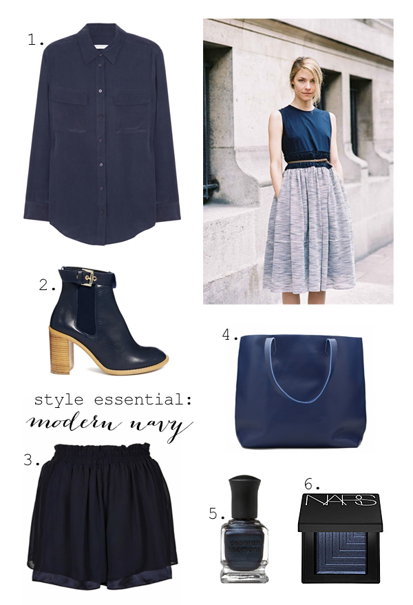 Modern navy for summer