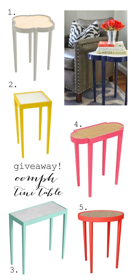 $400 oomph table giveaway