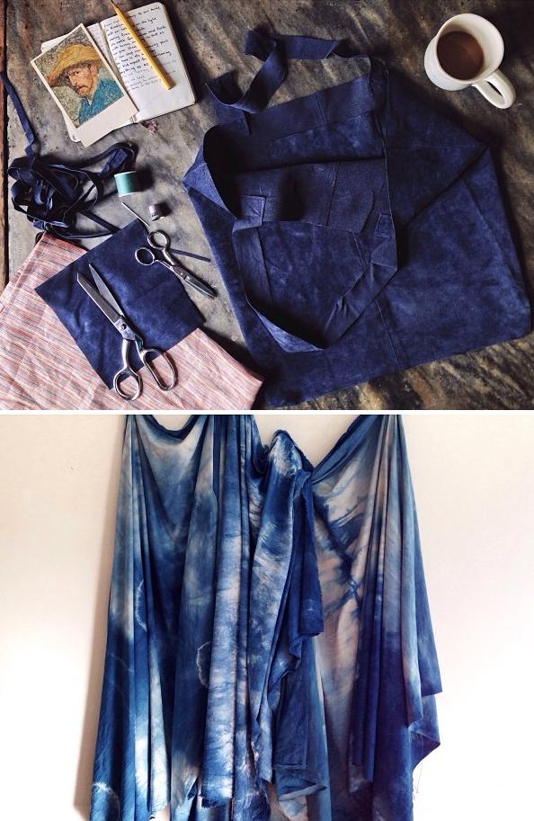 Dyed indigo