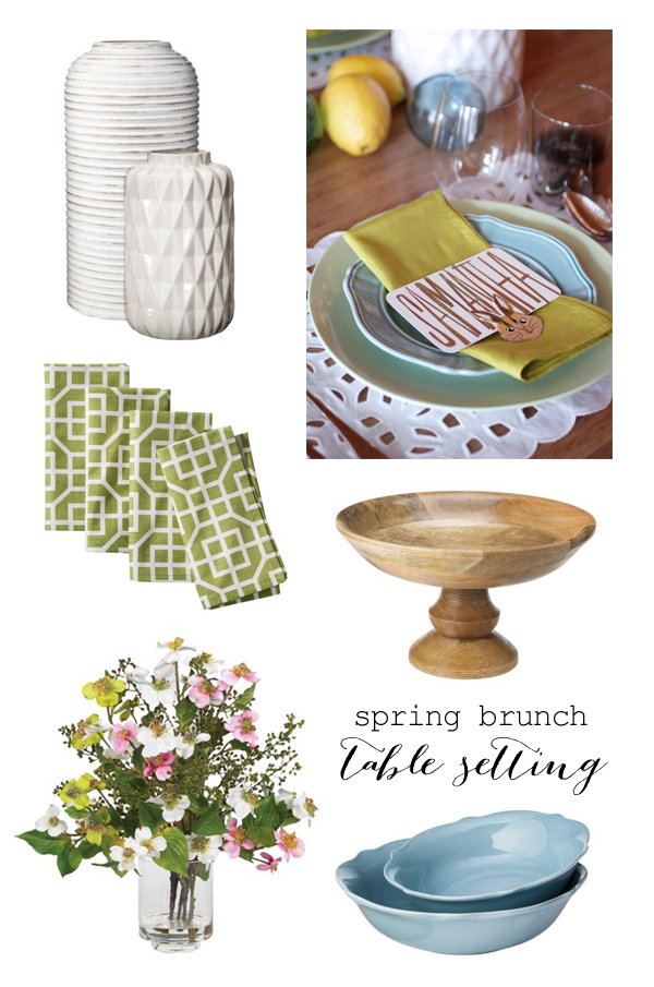 Spring brunch table setting