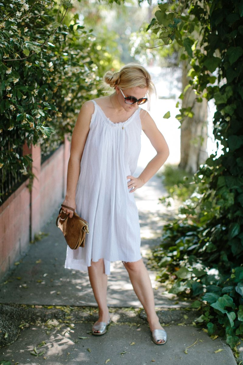 White summer sundress