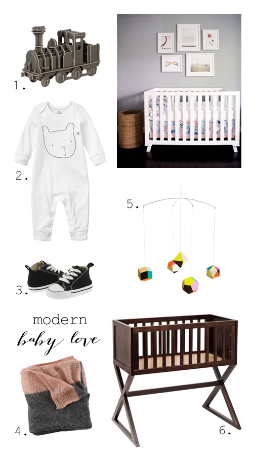Modern baby gifts + nursery style