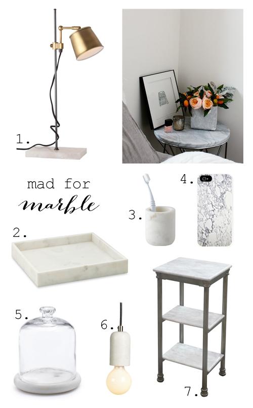 Loving marble decor