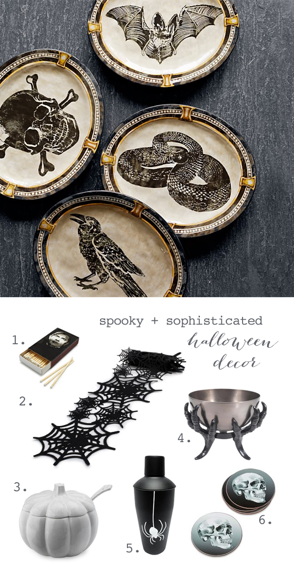 black white halloween decorations - Sophisticated Halloween Decorations
