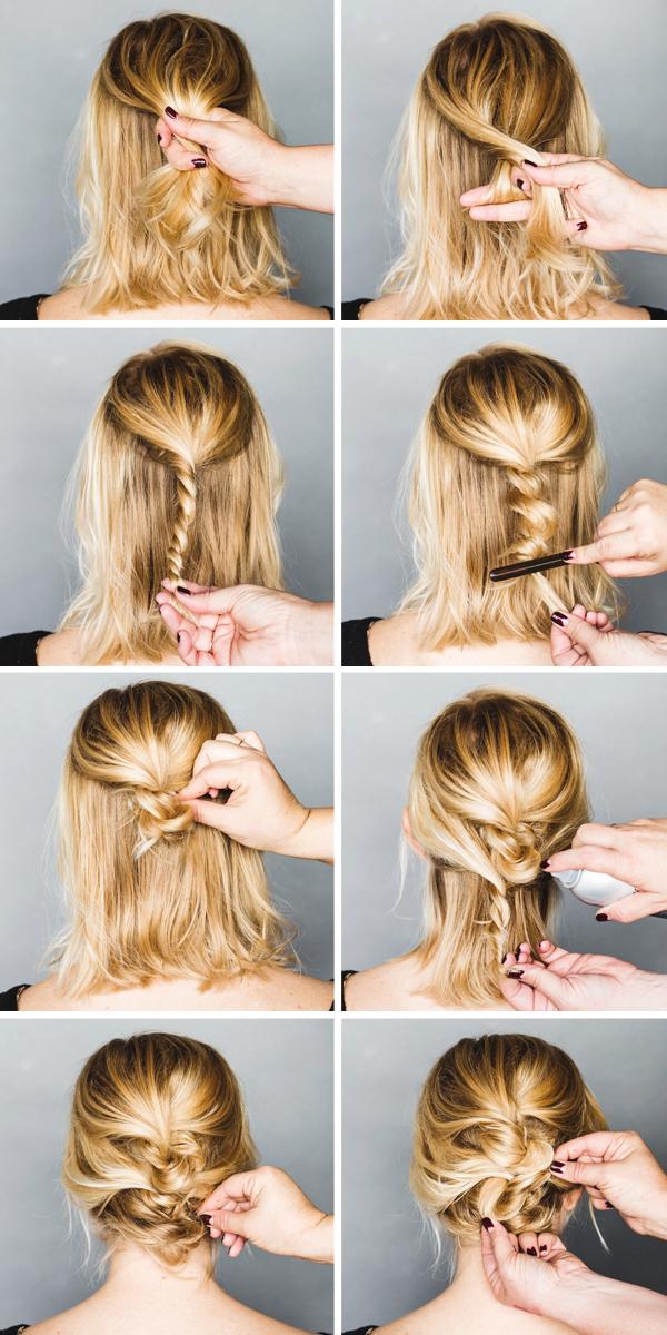 Holiday Hair Tutorial An Easy Short Hair Updo Anne Sage