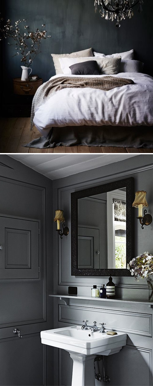 Dark grey interior design inspiration