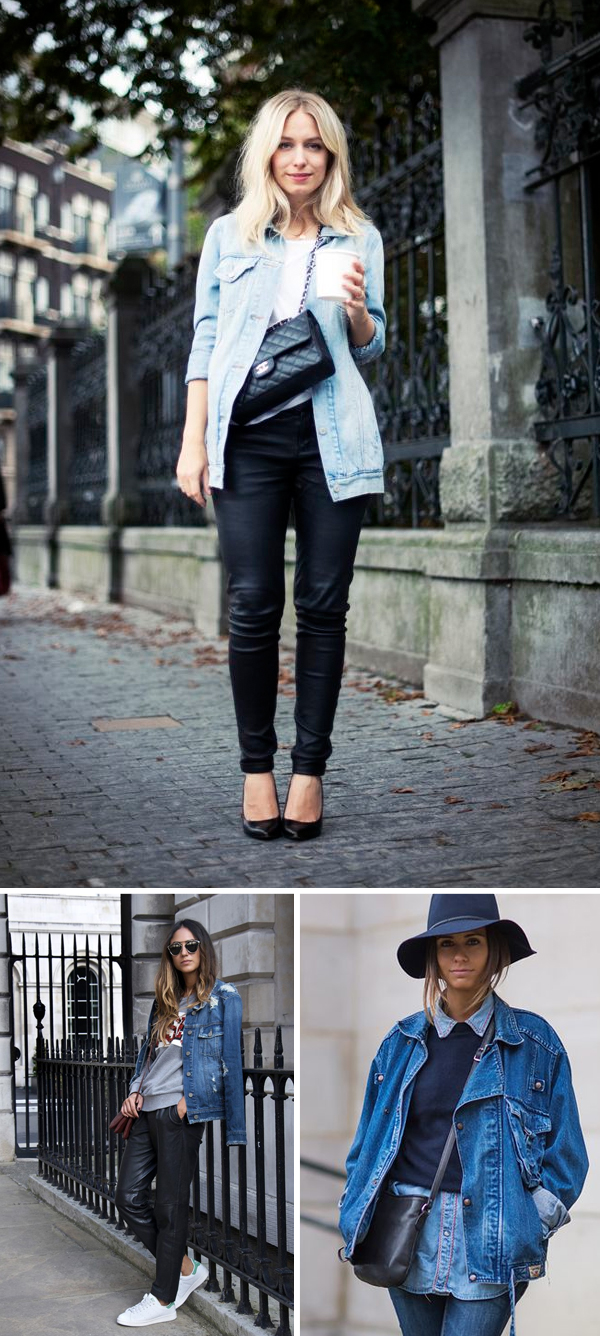 Oversized denim jackets