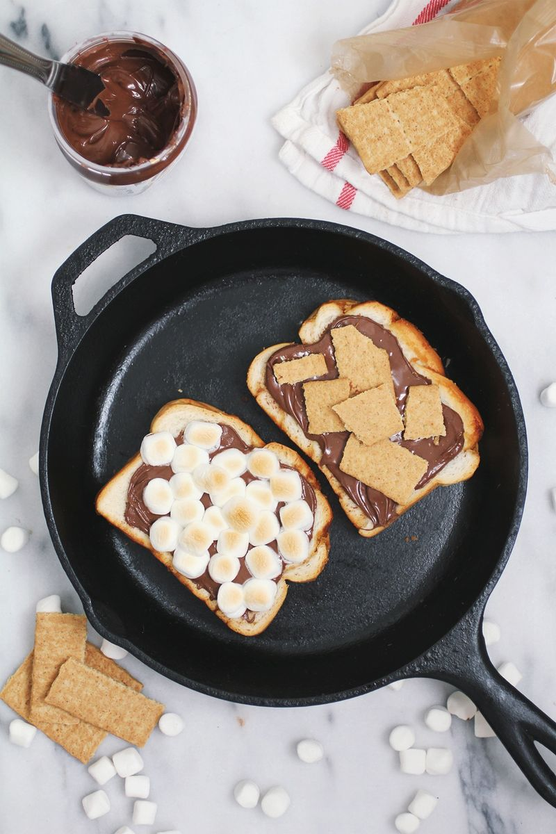 Grilled s'mores sandwich