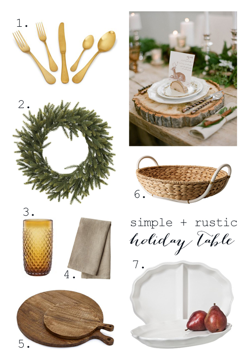 Rustic + simple thanksgiving table