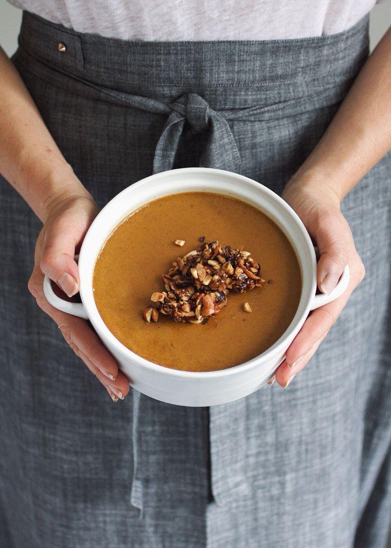 Pumpkin spice custard