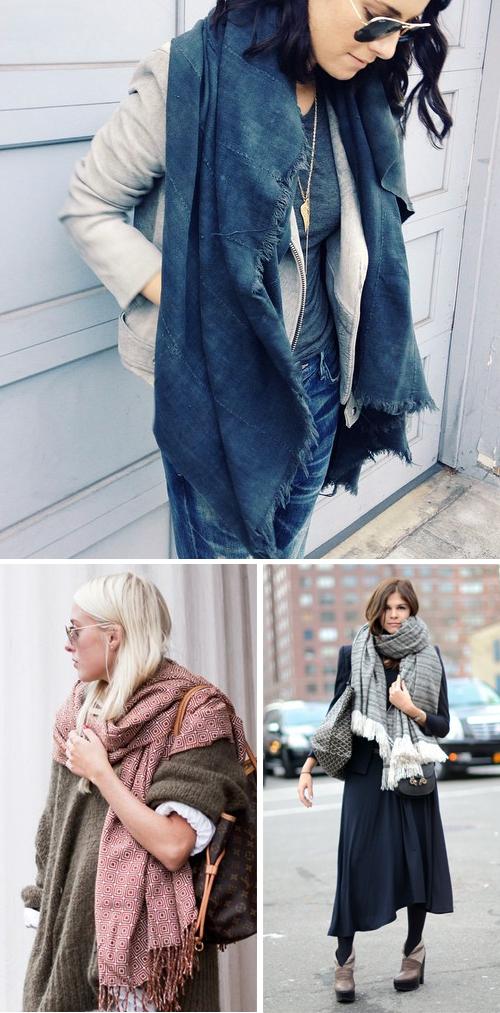 Oversized blanket scarves