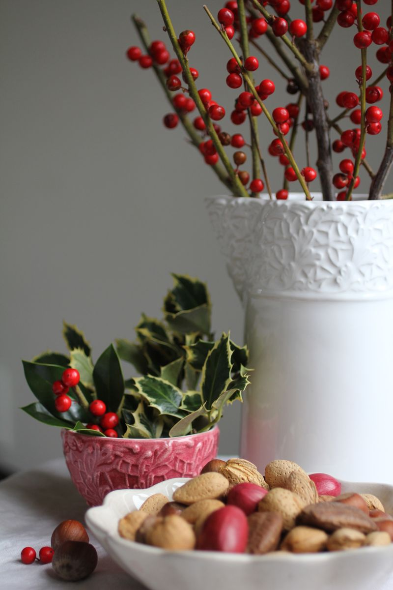 Holly + berries make easy holiday decorations