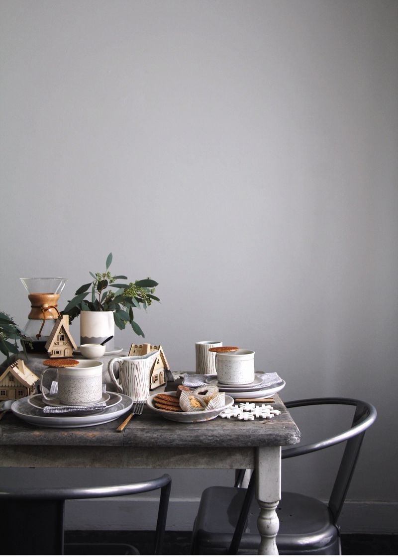 Scandinavian christmas tabletop