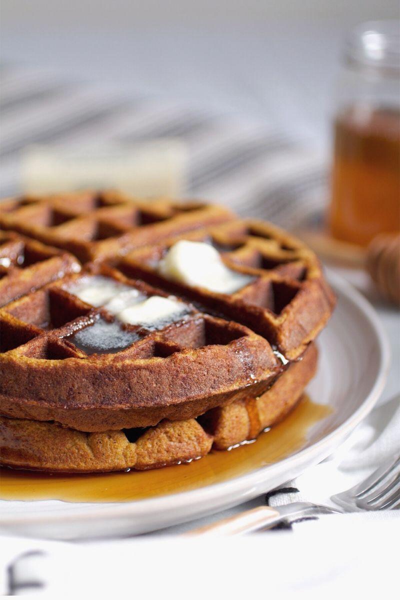 Grain free paleo pumpkin gingerbread waffles.JPG