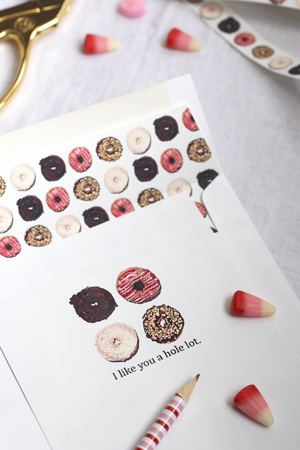 Donut valentines day card