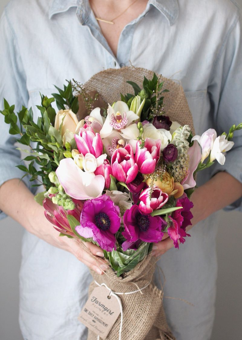 Valentine\'s Day Bouquets Go Local with Farmgirl Flowers - Anne Sage