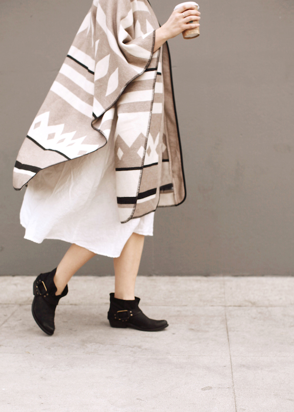 Blanket cape + booties