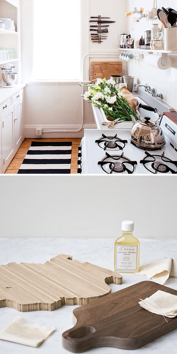 Cutting boards + kitchen decor