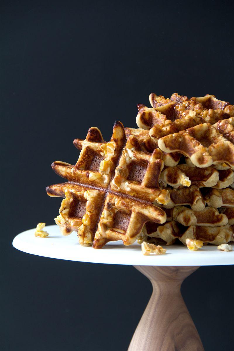 Mini gluten free waffles
