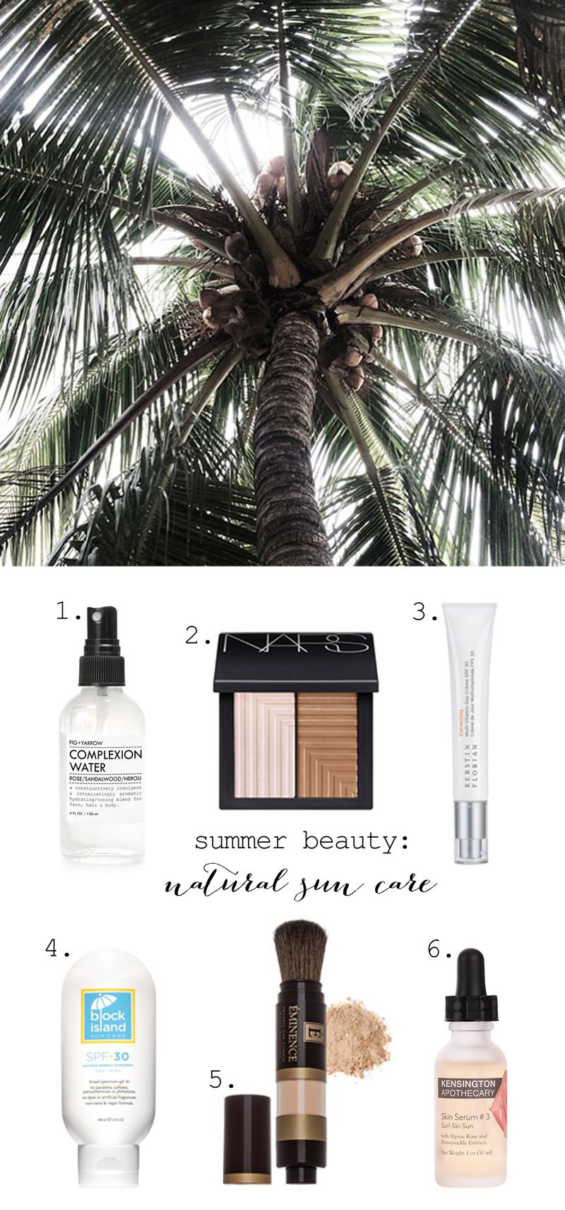 Natural sun protection for summer skincare