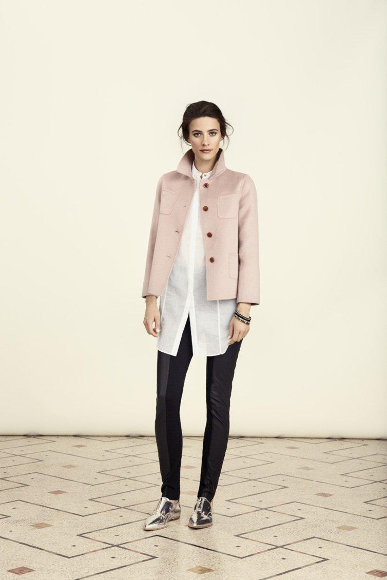 Cropped pink jacket