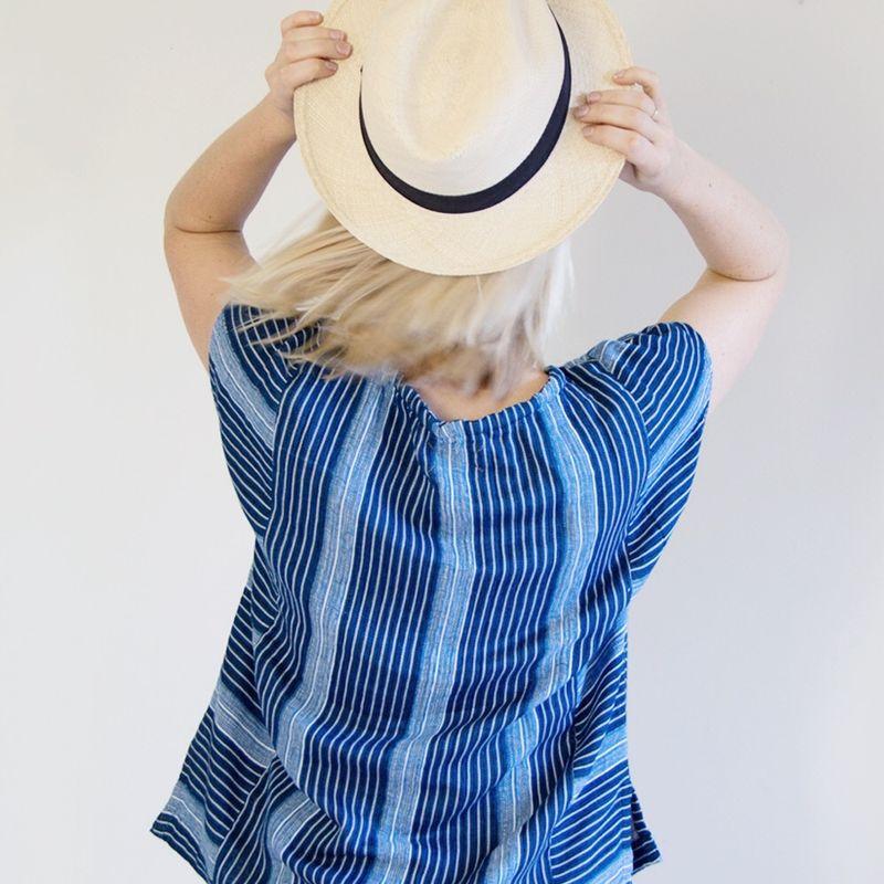 Baja shirt + panama hat