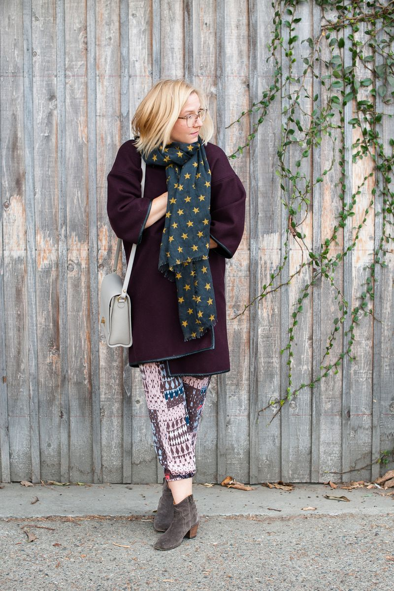 Wrap blanket coat