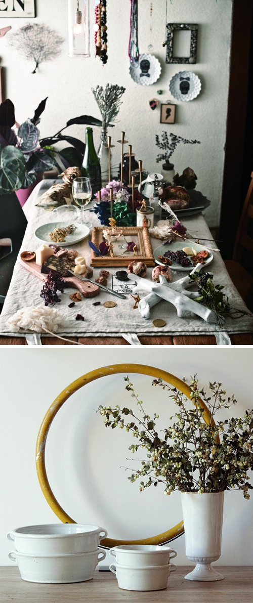 Eclectic holiday table inspiration