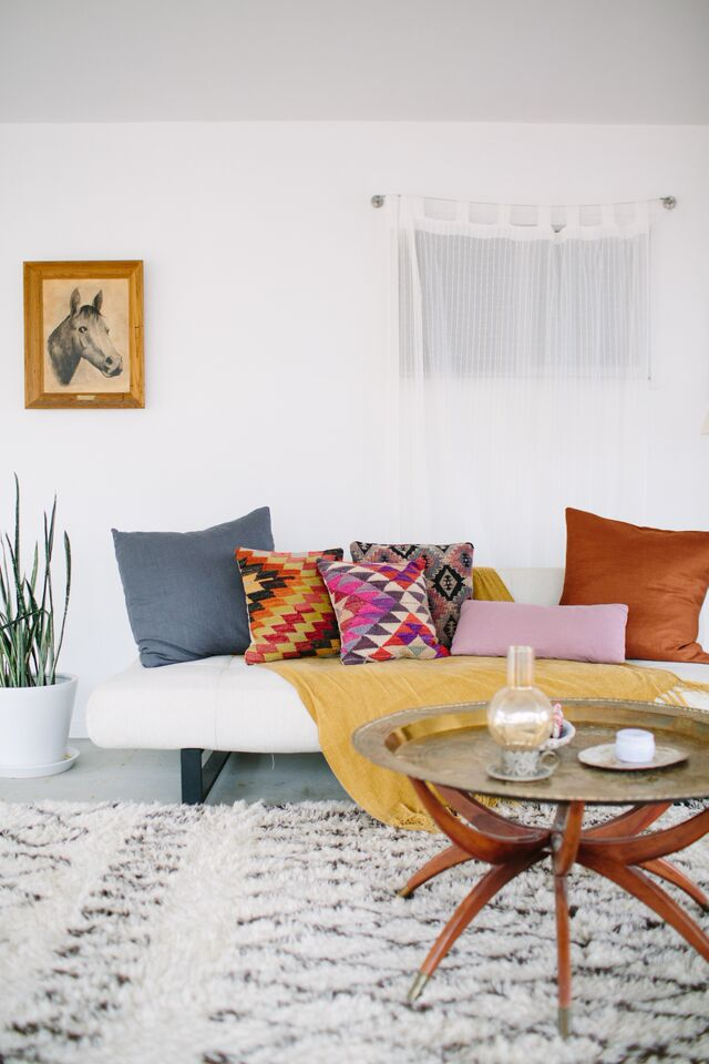 Airy Boho Living Room