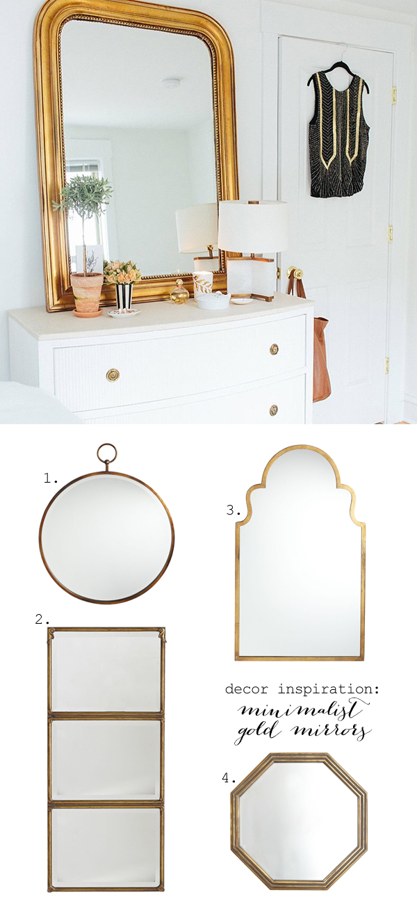 Simple gold mirrors